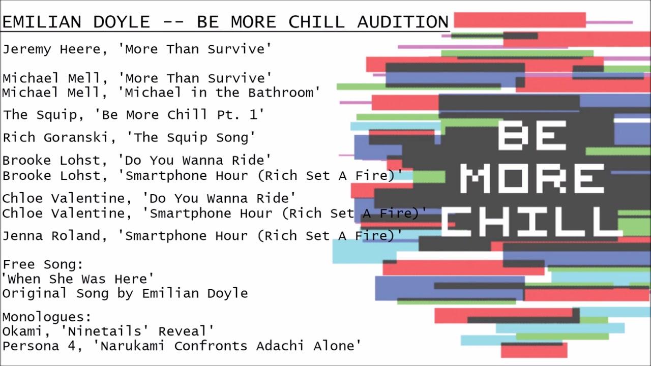 Be More Chill Recording Emilian Doyle YouTube - Michael in the bathroom lyrics