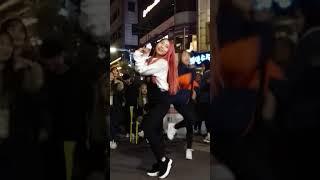 2018.2.18&걷고싶은거리&홍대&공차앞&여성댄스팀&Diana(지윤)&by큰별