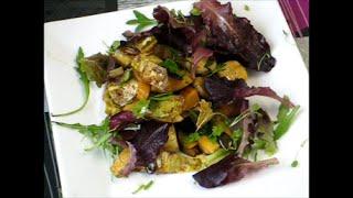 Салат из цикория с тыквенным маслом