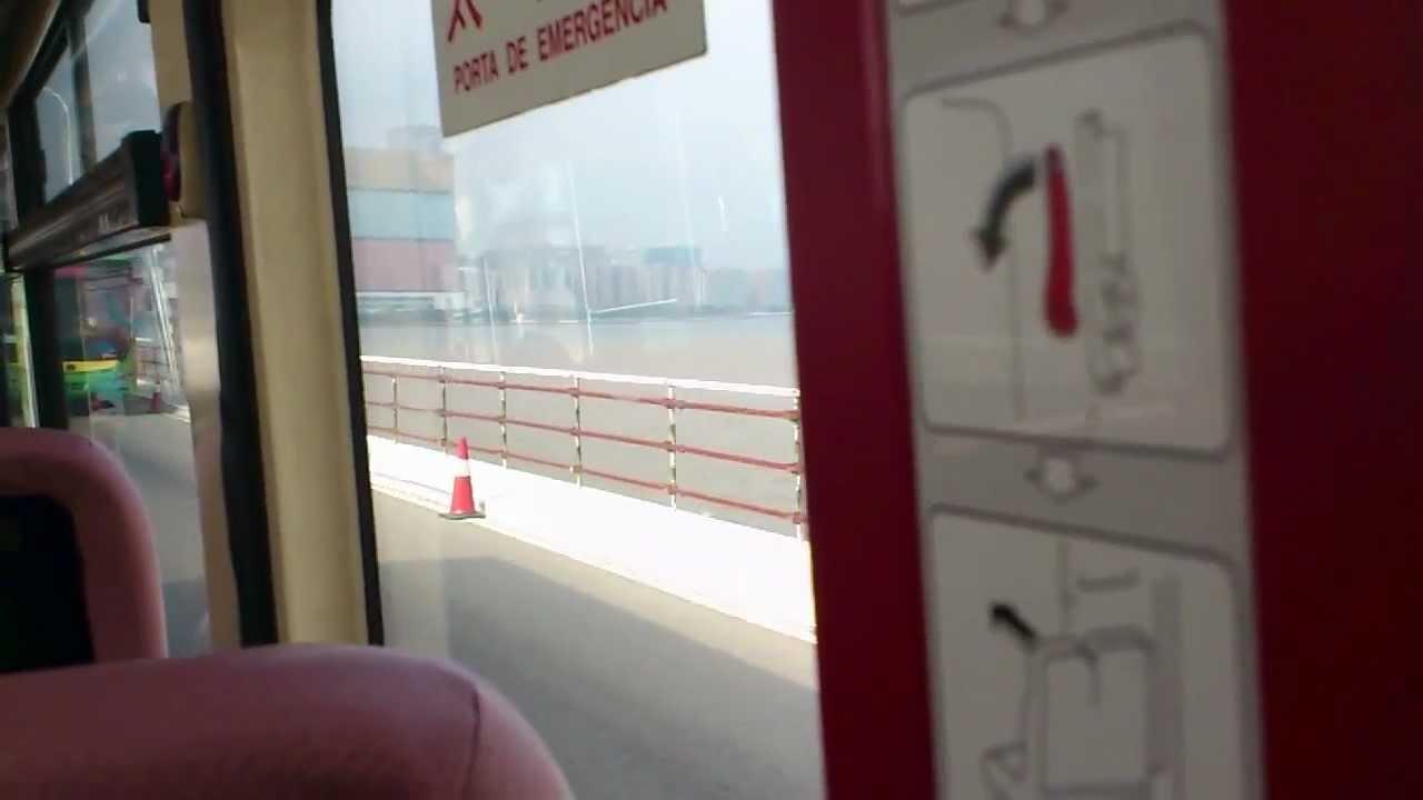 澳門巴士22號路線氹仔至澳門半島(行嘉樂庇總督大橋過程) - YouTube