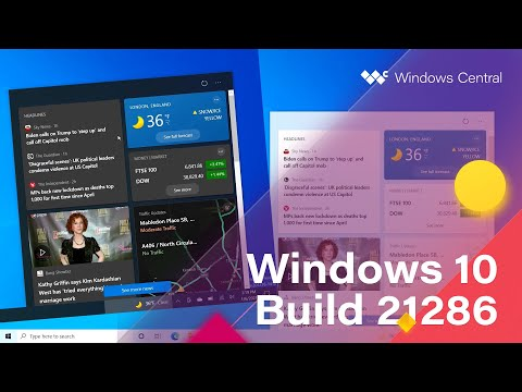 Windows 10 Build 21286 - Taskbar, Settings + MORE