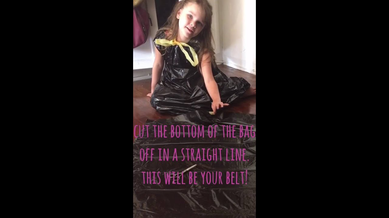 how to make a garbage bag dress youtube