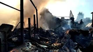 В Самаре горят 10 жилых домов на площади 1300 кв. м