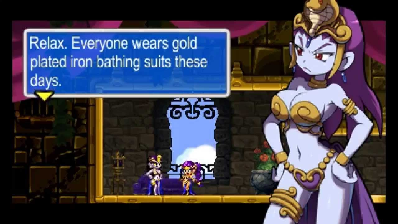 Risky boots from the shantae games gets her huge cartoon boobs fucked and a facial with extra futa scenes - 1 6