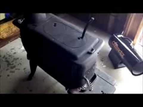 Wood stove installation in a shed part one -2013 Winter Projects Series