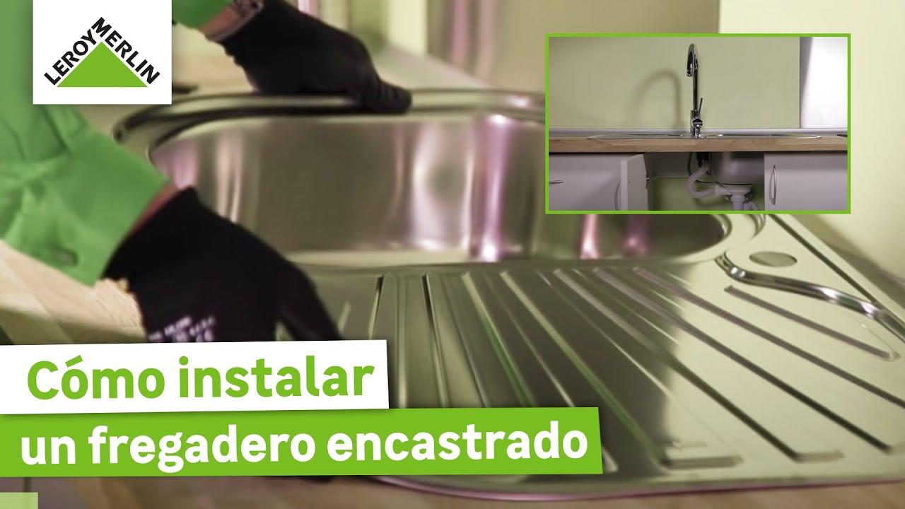 C mo instalar un fregadero encastrado leroy merlin youtube for Como montar muebles de cocina