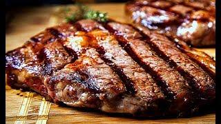 Как жарить стейк на сковороде! Как приготовить стейк дома!