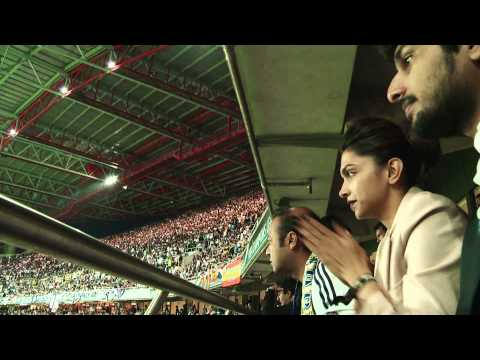 Deepika at the Uefa Champions League