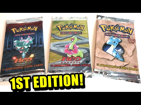 HOLOGRAPHIC PULL! - OPENING 3 VINTAGE 1ST EDITION POKEMON BOOSTER PACKS!