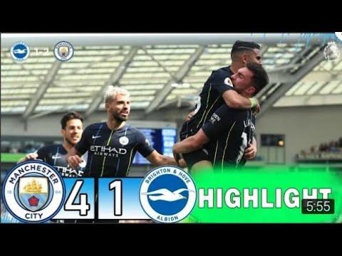 manchester city Vs Brighton 4-1|full highlight & goals ...