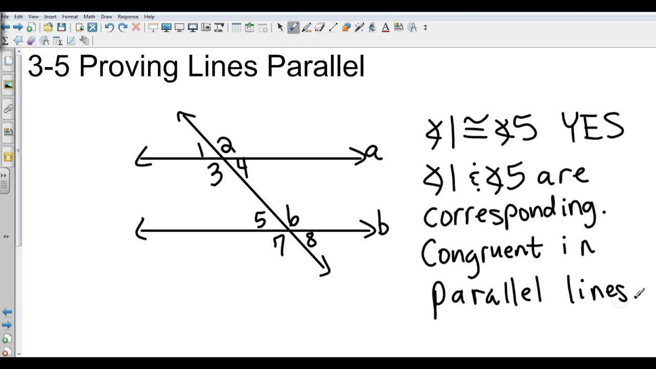 Geometry 3 5 Proving Lines Parallel - YouTube