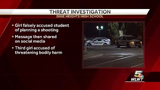 Girl falsely accused student of planning shooting at Dixie HS
