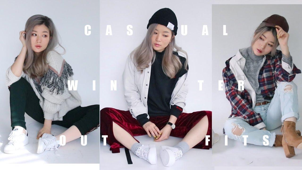 [VIDEO] - 젠더리스룩 #캐주얼 코디 레이어링 CASUAL WINTER OUTFITS l 패션유튜버 Krystal 9
