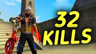 32 KILLS || SOLO VS SQUAD || MAKING HISTORY || I MADE WORLD RECORD AFTER ANKUSH FREE FIRE 🔥 🇮🇳 !!