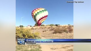 Video shows emergency hot air balloon landing in Farmington