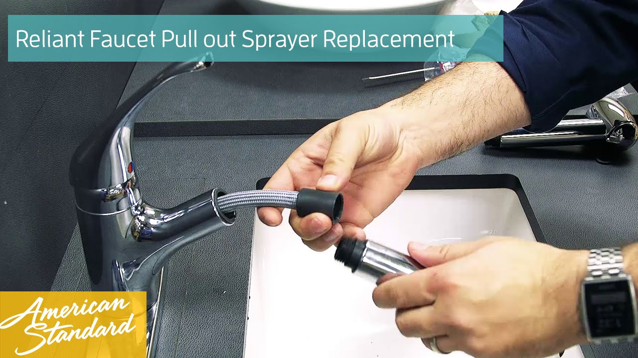 how to replace the easy touch pull out sprayer for your reliant faucet