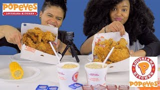POPEYES MUKBANG! Fried Chicken, Yes Ma'am! (CRUNCHY, INTENSE EATING SOUNDS)