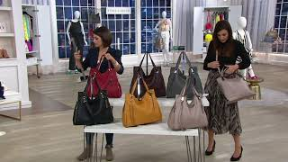 Vince Camuto Lamb Leather Tote Handbag - Eliza on QVC