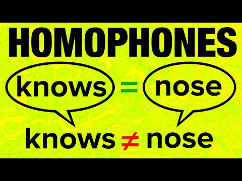 500+ American English Homophones with Pronunciation