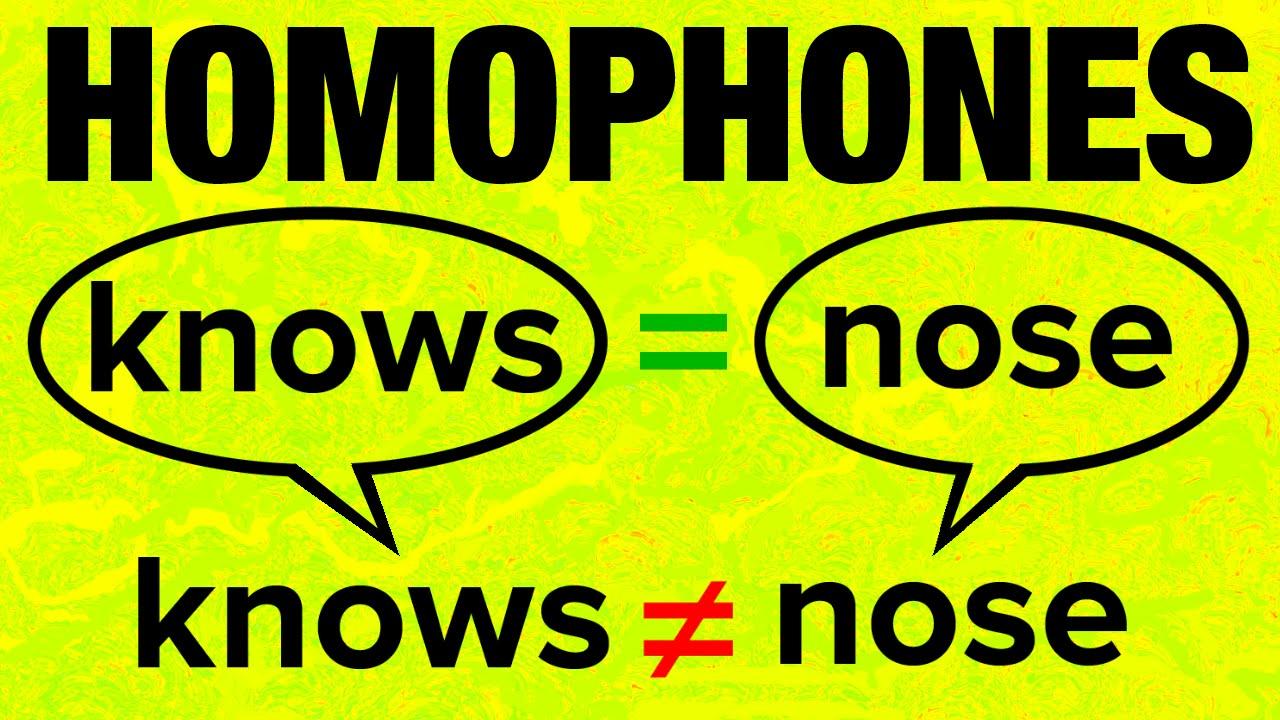 10+ American English Homophones with Pronunciation