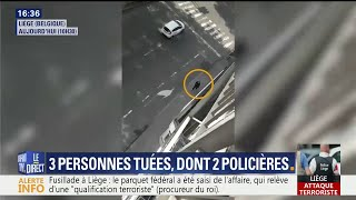 Attaque à Liège: des vidéos montrent l'assaillant déambulant dans les rues