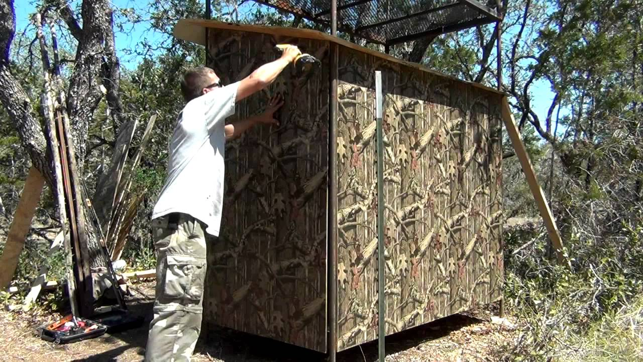 Custom Texas Hunting Blind Building Tips 2 5 Youtube