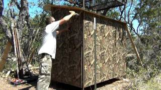 Custom Texas Hunting Blind Building Tips 2/5