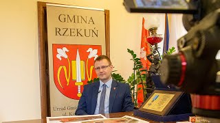 Bartosz Podolak, wójt gminy Rzekuń o tężni solankowej