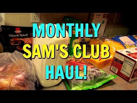 Monthly SAM'S CLUB HAUL!  $230 | Dosh Rebate | December 2018