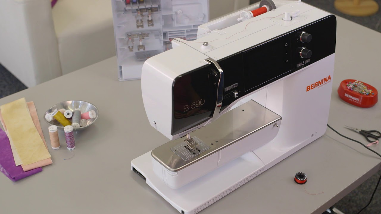 Sewing Tutorial First Steps With The B 500 535 540 570 Q Tutorials On Winding Your Bobbin And Threading Machine 590