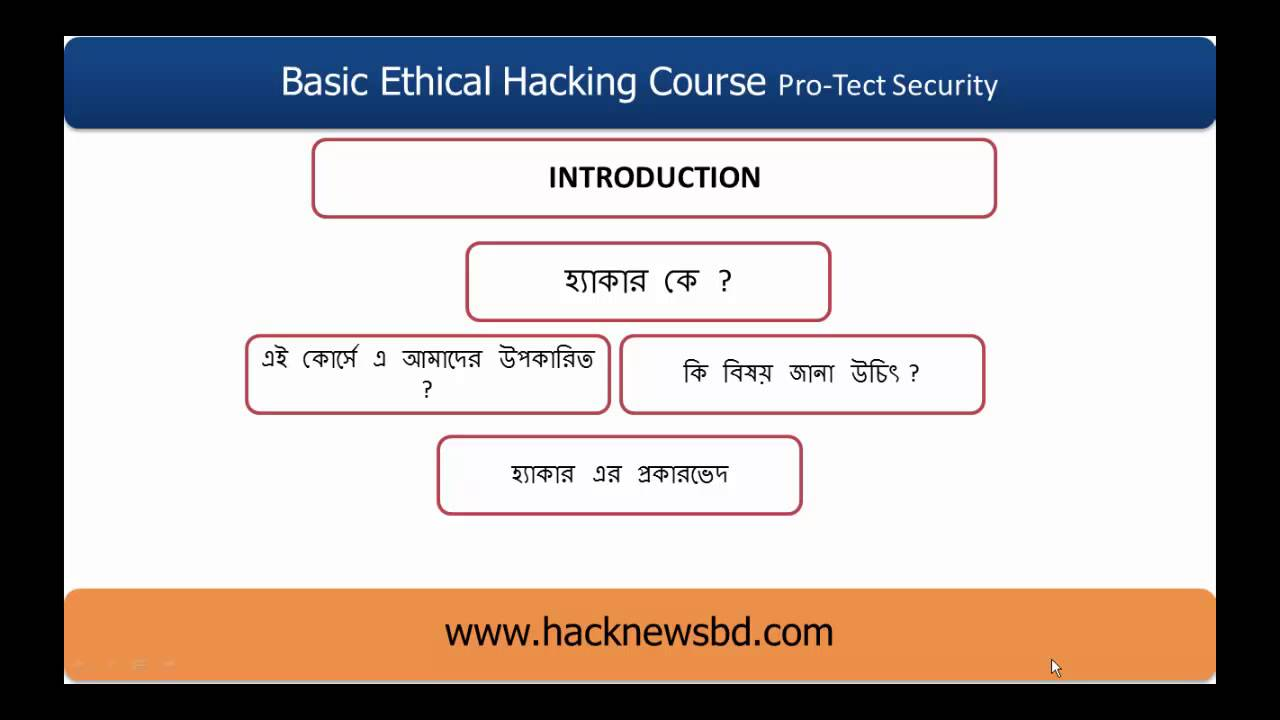 Basic Ethical Hacking Course In Bangla Introduction Youtube