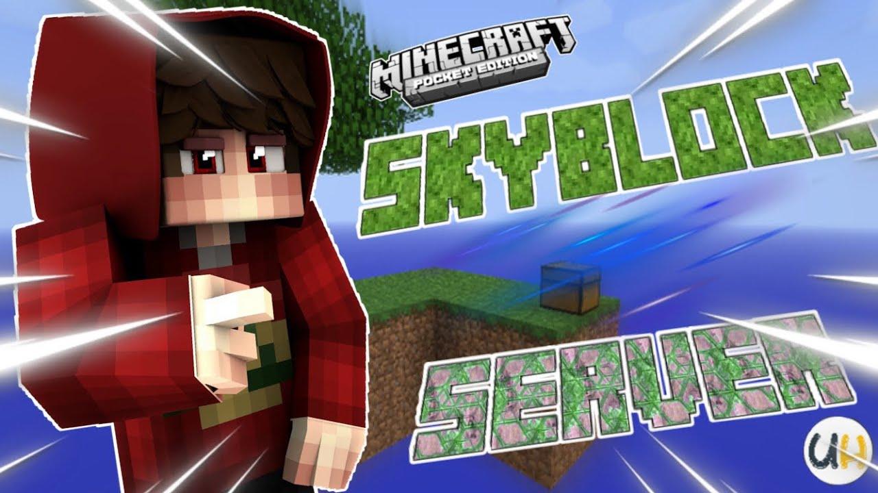 YENİ SKYBLOCK SERVER Minecraft Pocket Edition W10 1 12 X YouTube