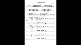 Μαθήματα - Ασκήσεις για drums / \ Paradiddles Study I