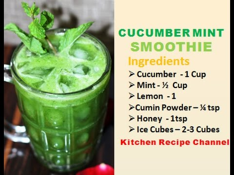 How To Make Cucumber Mint Juice Cucumber Lemon Juice Vitamin K Booster Youtube