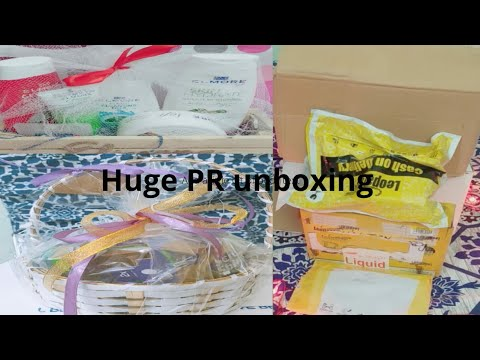 Huge PR package |free gift different brand |glam by saba gul