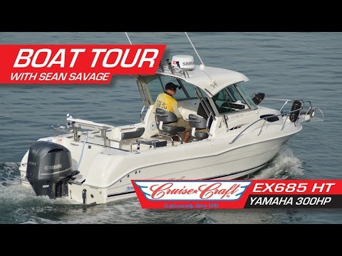 Cruise Craft EX 685 HT With Yamaha 300 HP 4-stroke - Walk Through With Sean Savage.