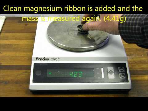 Finding The Formula Of Magnesium Oxide