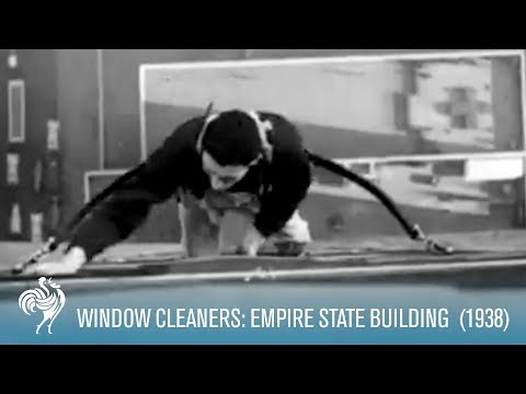 Window Cleaners on The Empire State Building (1938) | British Pathé