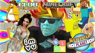 PLAYING GAMES THAT AREN'T ROBLOX! (sort of) CLUB PENGUIN, IMVU, MINECRAFT, MSP, AND BLOX CITY!