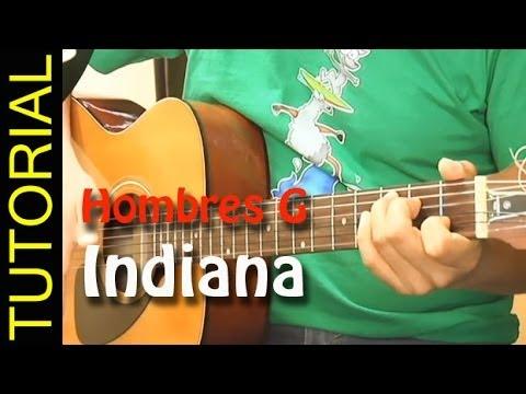 Indiana - Hombres G - Como tocar en guitarra acordes
