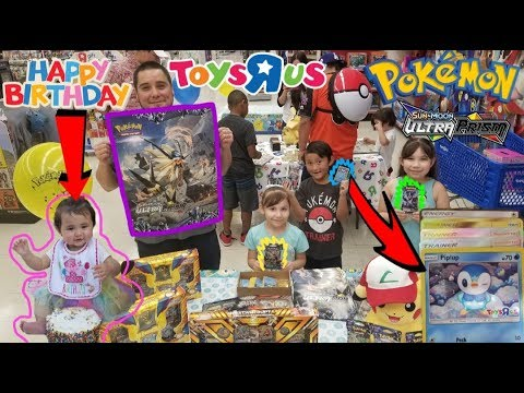 Baby Aris First Birthday Free Pokemon Cards At Toysrus Ultra