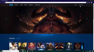 blizzard app downloading at 0b/s