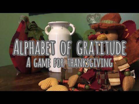 Alphabet of Gratitude | A Game for Thanksgiving