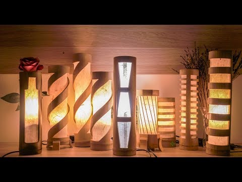 Handmade Bamboo Bedroom Lamp, Table Lamps, Desk Lamps, For Living Room and Bedroom
