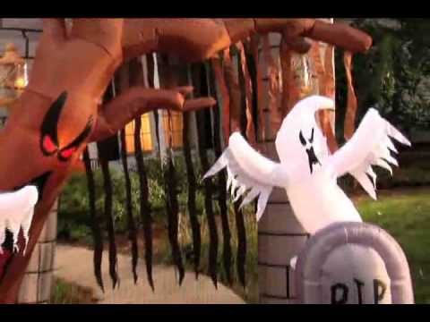 graveyard inflatable archway halloween decoration youtube - Blow Up Halloween Decorations