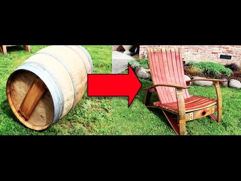 Make A Chair Out Of A Wine Barrel Youtube