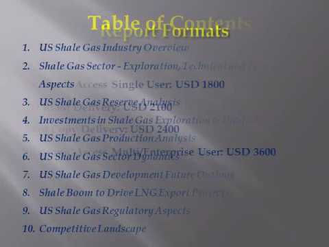 US Shale Gas Industry Analysis