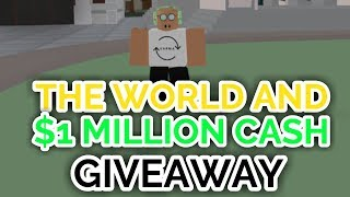 THE WORLD AND $1 MILLION CASH GIVEAWAY! | Project JoJo | ROBLOX