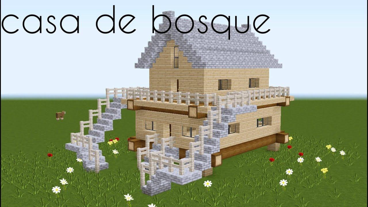 Como hacer una casa del bosque minecraft youtube for Como hacer una casa clasica en minecraft