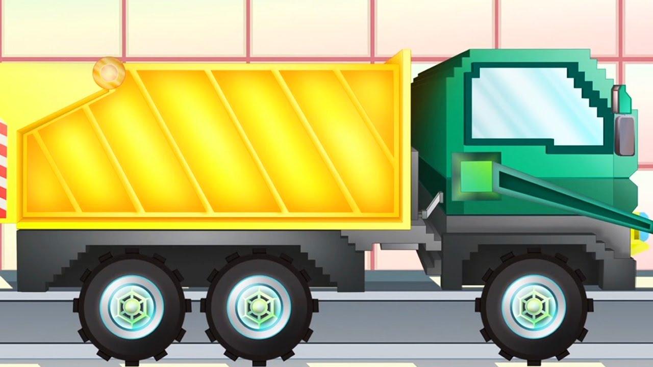 çöp Kamyonu Pipo Ve Onun çekici Aracı çocuklar Için Minecraft Gibi